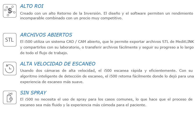 MEDIT- SCANNER INTRAORAL MOD  I500 + PC 16 GB-TECLADO-RATON